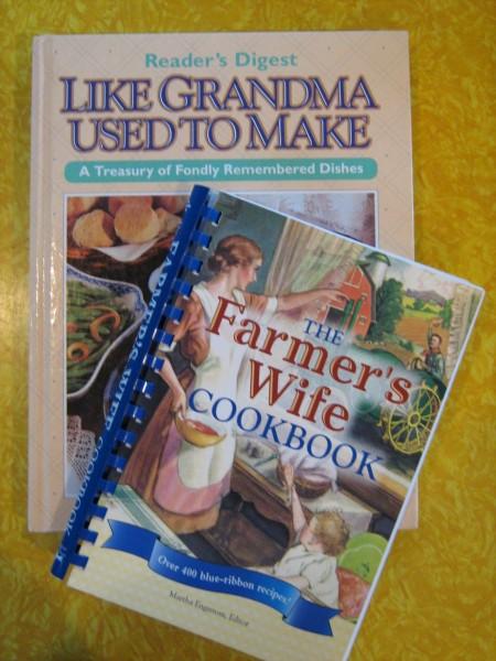 Like Grandma Used to Make and The Farmer's Wife Cookbook