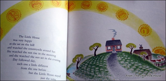 pages from The Little House illustrated by Virginia Lee Burton