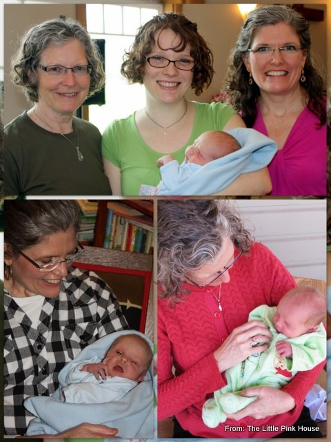 our moms (with their newest grandson)