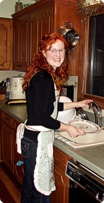 Lisa in the darling apron