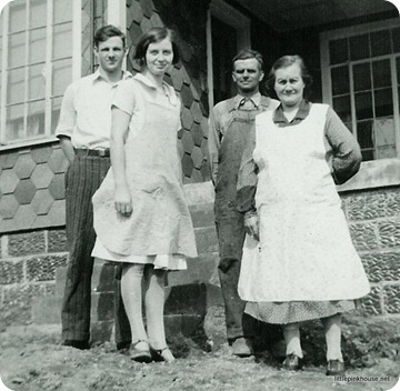 my great grandparents Herbert and Alma with Alma's parents in 1929