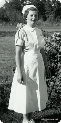 Grandma Mary in her nurse's apron