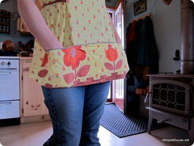 in my great grandma Doris' apron