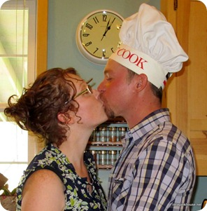 kissing my cook