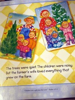"""The trees were quiet. The children were noisy..."""