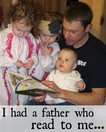 Richer than I you will never be; I had a father who read to me...