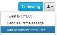 Add or remove from lists...