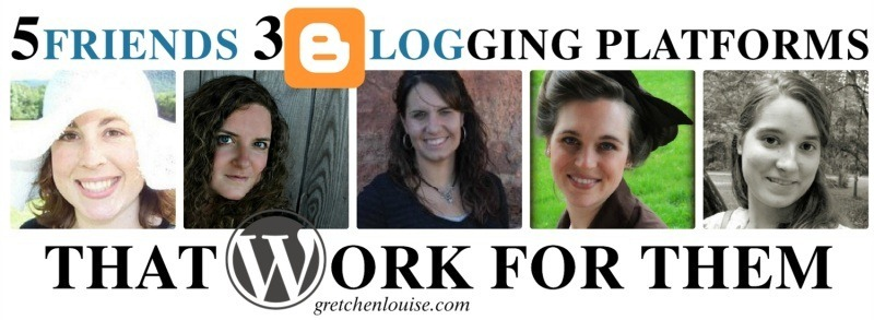 5 Friends, 3 Blogging Platforms That Work for Them https://gretchenlouise.com/?p=6511 via @GretLouise
