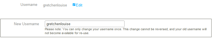 change StumbleUpon username