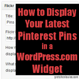 How to Display Your Latest Pinterest Pins in a WordPress.com Widget