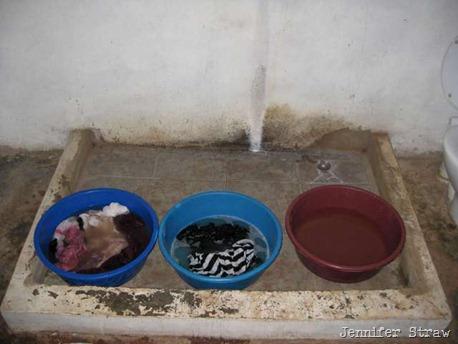 soaking laundry