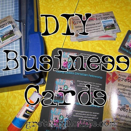 DIY double-sided business cards
