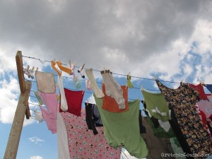 cloudy clothes in the sunshine