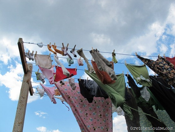 cloudy clothesline