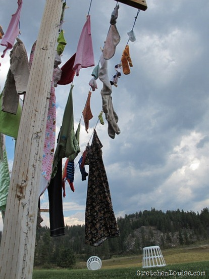 clouds and laundry