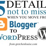 5 details not to miss when you move from Blogspot to WordPress