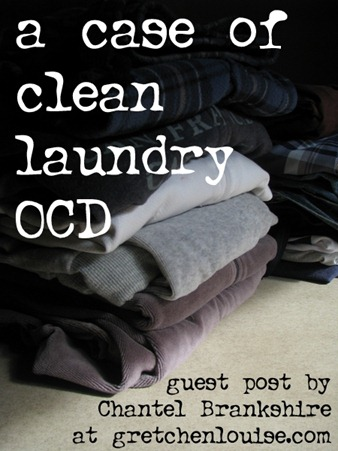 a cast of clean laundry OCD by @cbrankshire