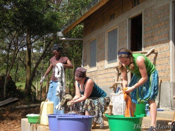 Laundry in Uganda (photo by JenniMarie.com)