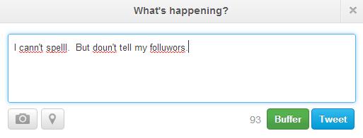 Twitter spell check