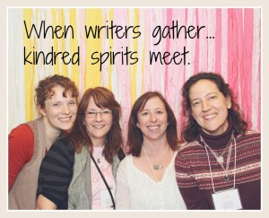 when writers gather, kindred spirits meet...