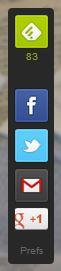 Feedly Mini Toolbar