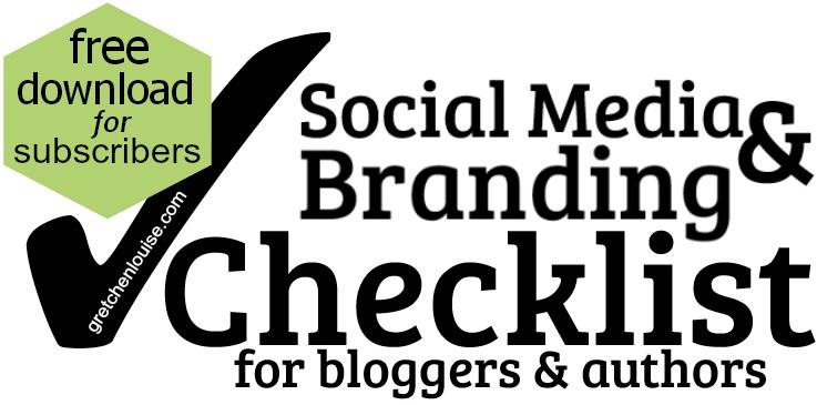 Social Media & Branding Checklist - free download from @GretLouise!