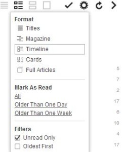 Feedly's Options