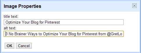 Specify Image Properties in Blogger