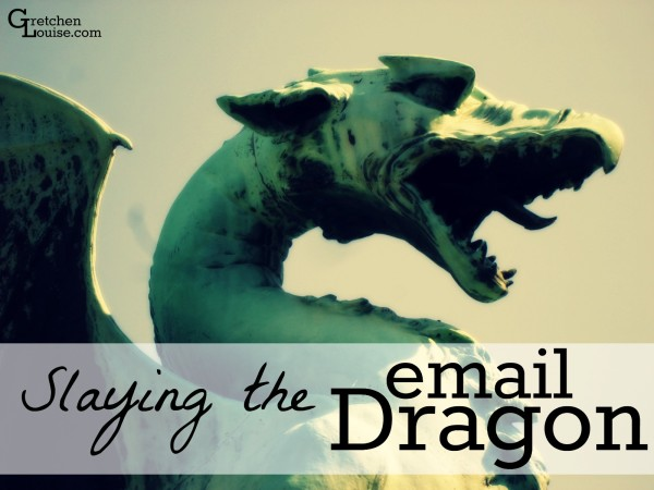 How did I slay the email dragon and get back on top of my inbox? Here are 4 sanity-saving secrets.
