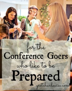 for the conference goers who like to be prepared