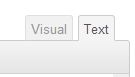 Text Tab in WordPress