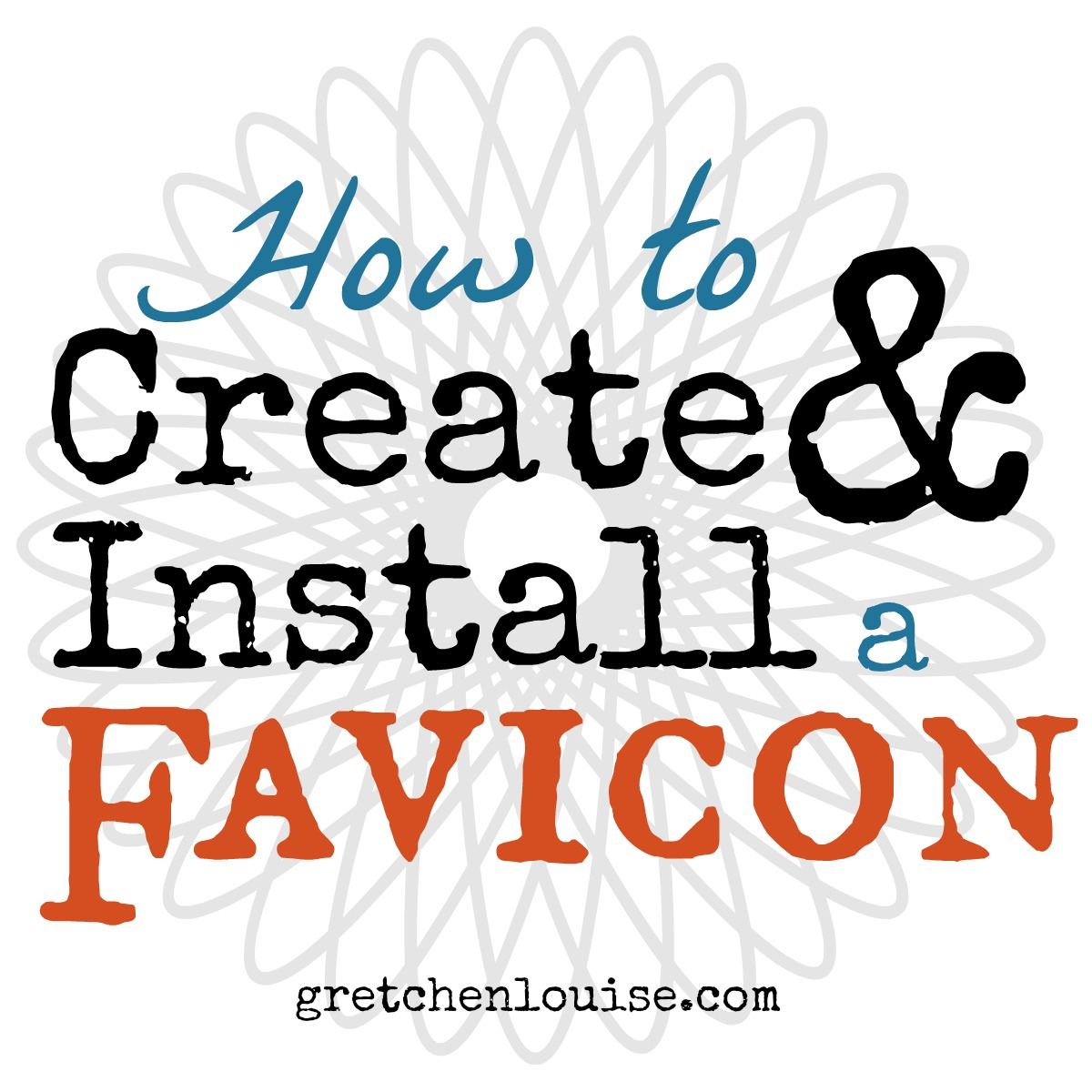 How to Create & Install a Favicon