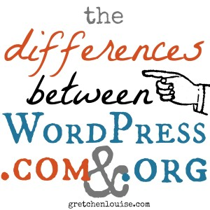 the differences between WordPress.com and WordPress.org via @GretLouise