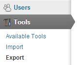 Tools, Export