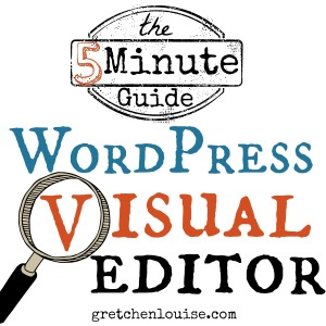 The 5 Minute Guide to the WordPress Visual Editor via @GretLouise