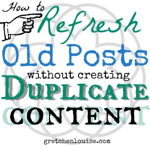 Here are tips and best practices for refreshing and re-sharing old posts without re-posting and creating duplicate content.