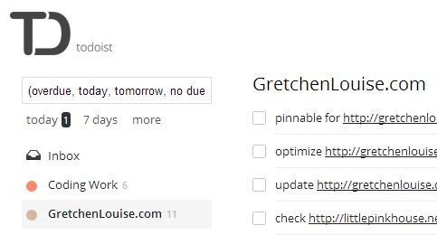 My Blog's Todoist Project