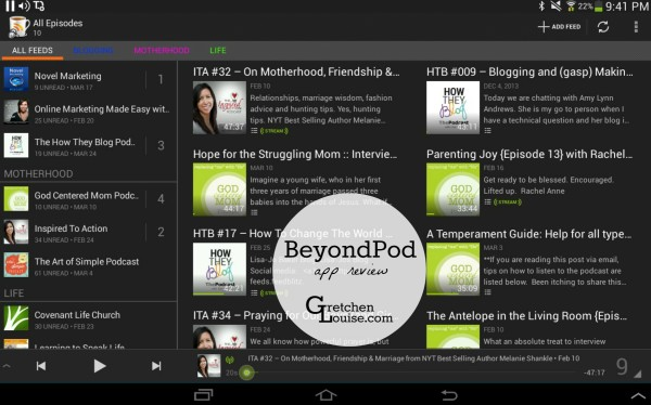 BeyondPod (podcasts app review)