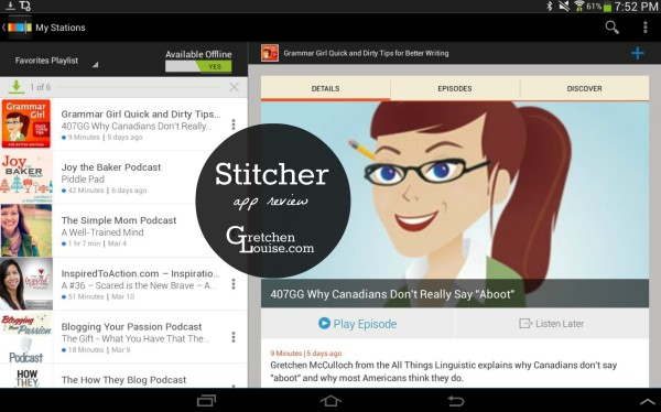 Stitcher (podcasts app review)