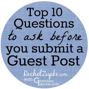 What questions should you ask a site owner before you submit a guest post? Rachel Zupke shares an example guest post proposal and her most pressing questions.