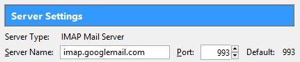 IMAP Account Settings in Thunderbird