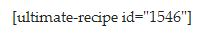 What your recipe looks like when WP Ultimate Recipe plugin is deactivated.