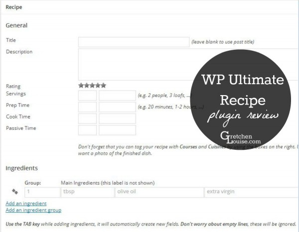 WP Ultimate Recipe WordPress Plugin Review