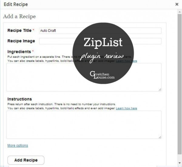 ZipList Review: A Recipe Plugin for WordPress