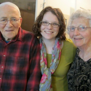 with my grandparents during my last visit with Grandpa, in March