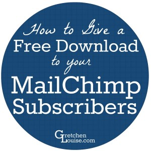 Want to give a freebie to your MailChimp Subscribers? It's easy to add a download and it doesn't require a paid MailChimp account!