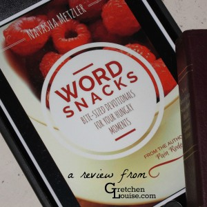WordSnacks a review of the new devotionalbook by @NatashaMetzler