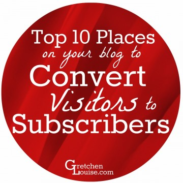 Want to convert more of your visitors to actual subscribers? Find out the top 10 places on your blog to place subscription forms--and the best methods and plugins to use!
