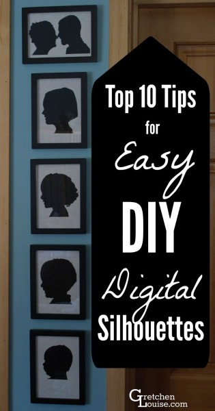 DIY silhouettes don't have to be hard! Find out how easy it is to make them--no scissors or paint required.