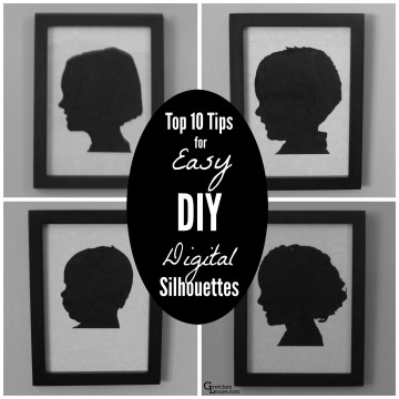 How to make DIY silhouettes easy peasy!